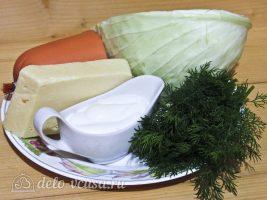 Салат с капустой и ветчиной: Ингредиенты