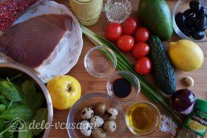 Салат с тунцом, айвой и авокадо: Ингредиенты