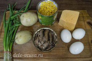 Салат со шпротами и кукурузой: Ингредиенты