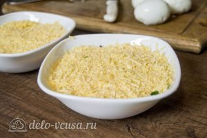 Салат со шпротами и кукурузой: Слой сыра