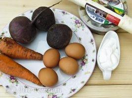 Селедка под шубой в лаваше: Ингредиенты