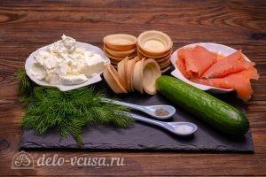 Тарталетки с красной рыбой и сыром: Ингредиенты