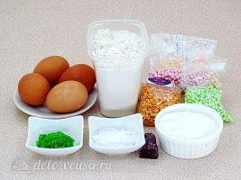 Новогодний торт Елочка: Ингредиенты