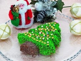 Новогодний торт Елочка готов