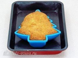 Новогодний торт Елочка: Выпекаем до готовности