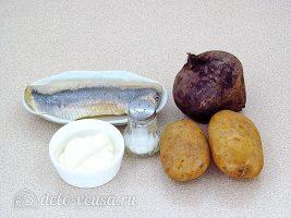 Шарики из свеклы с сельдью: Ингредиенты