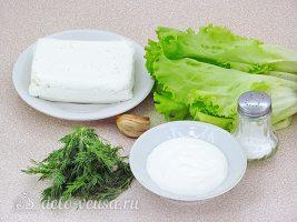 Творожная закуска на листьях салата: Ингредиенты