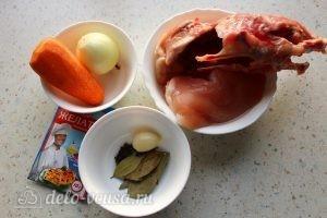 Заливное из курицы с желатином: Ингредиенты