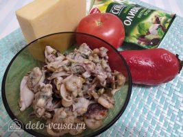 Салат Красное море с осьминогами и перцем: Ингредиенты