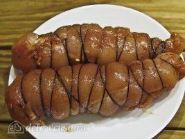 Бастурма из куриной грудки в духовке: Связать мясо в рулеты