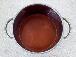 Густой горячий шоколад: Прогреваем пока весь шоколад не расплавится