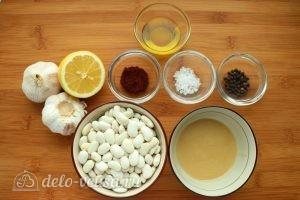 Хумус из фасоли с запеченным чесноком: Ингредиенты