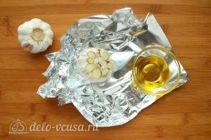 Хумус из фасоли с запеченным чесноком: Подготовить чеснок