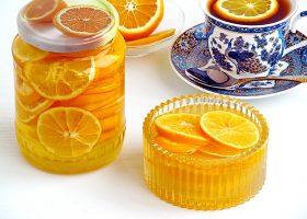 Лимон с сахаром в банке