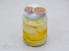 Лимон с сахаром в банке: Дать настояться