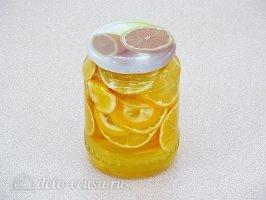 Лимон с сахаром в банке: Утрамбовать банки