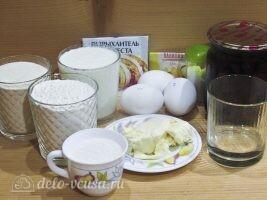 Манник с вишней на кефире: Ингредиенты