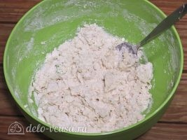 Тортилья из пшеничной муки: Перемешать