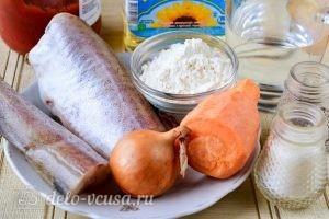 Минтай в томатном соусе: Ингредиенты