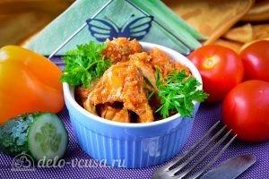 Минтай в томатном соусе готов