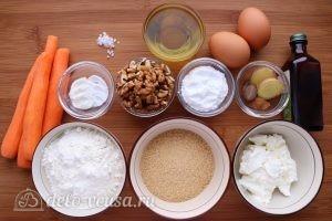 Морковный пирог с орехами: Ингредиенты