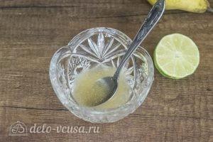 Муссовый торт Карамельная груша: Развести желатин в воде