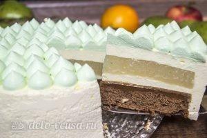 Муссовый торт Карамельная груша готов