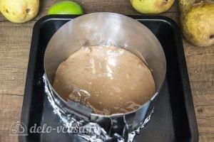 Муссовый торт Карамельная груша: Выпекать брауни до готовности