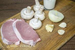 Отбивные из свинины с грибным соусом: Ингредиенты