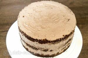 Шоколадно-апельсиновый торт: фото к шагу 16.