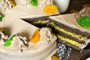 Шоколадно-апельсиновый торт: фото к шагу 19.
