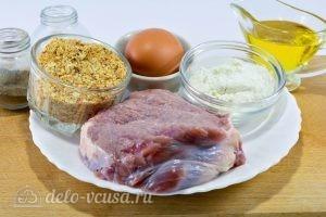 Шницель из говядины на сковороде: Ингредиенты