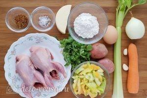 Суп с сырными клецками: Ингредиенты