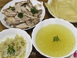Бешбармак из курицы: Подготовить все ингредиенты