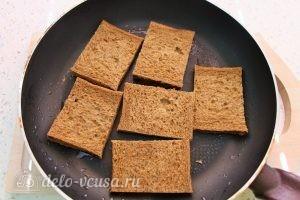 Бутерброды на 23 февраля: Поджарить хлеб