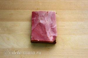 Бутерброды на 23 февраля: Подготовить ветчину
