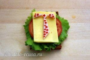 Бутерброды на 23 февраля: Собираем третий бутерброд