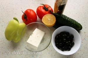 Греческий салат с брынзой: Ингредиенты