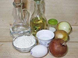 Луковые кольца в кляре на сковороде: Ингредиенты