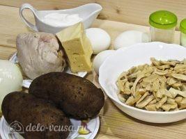 Салат Марго с курицей и грибами: Ингредиенты