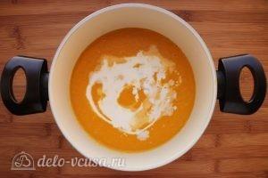 Суп пюре из тыквы и цукини: Перебить блендером