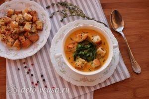 Суп пюре из тыквы и цукини готов