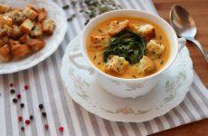 Суп пюре из тыквы и цукини