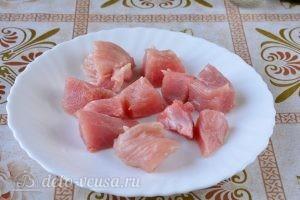 Жареная индейка на сковороде кусочками: фото к шагу 1