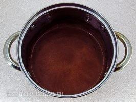 Шоколадное бланманже: Растворить шоколад