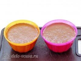Шоколадное бланманже: Разлить в емкости