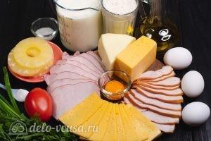 Блины на молоке и 3 начинки с сыром: Ингредиенты