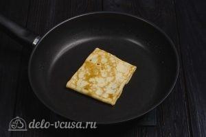 Блины на молоке и 3 начинки с сыром: Обжариваем с двух сторон