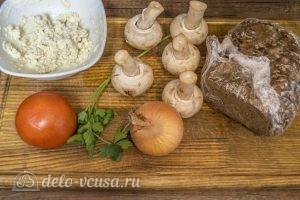 Бутерброды с шампиньонами и помидорами: Ингредиенты