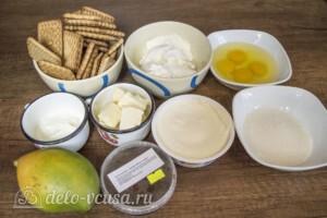 Тропический чизкейк с манго и меренгой: Ингредиенты